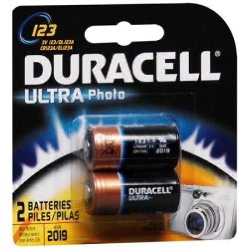 "Elementai Duracell ""Ultra"" CR123 - 2 vnt"