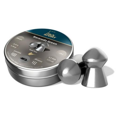 Kulkelės H&N BARACUDA GREEN 4.50 mm / 200vnt