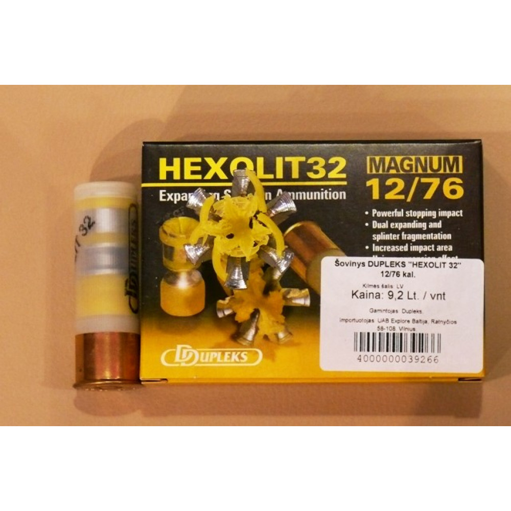 "Šovinys DDUPLEKS ""HEXOLIT 32"" 12/76 kal."