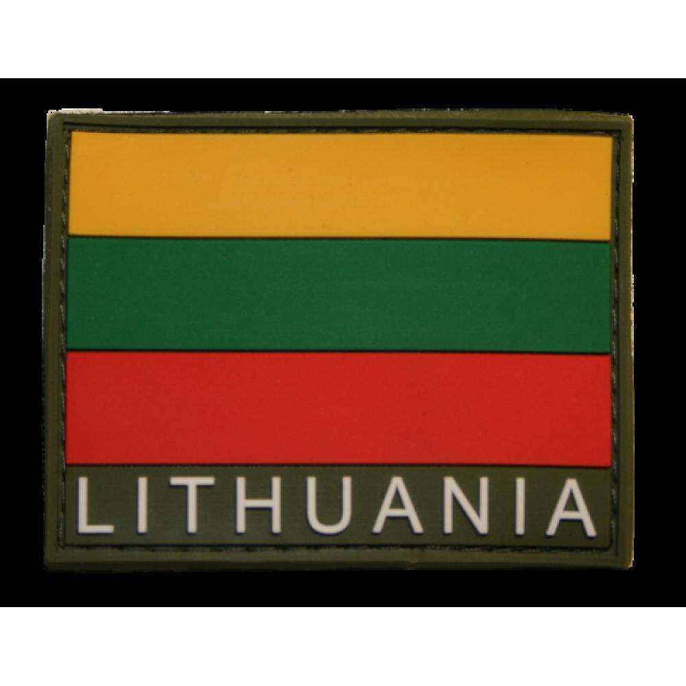 "Antsiuvas su velcro ""LITHUANIA"" 65x50mm."