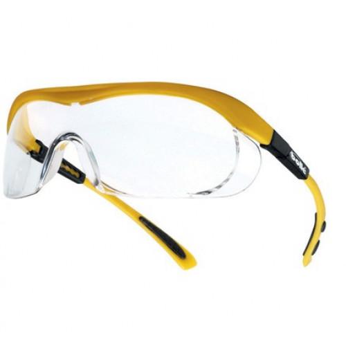 """Apsauginiai akiniai BOLLE """"TARGA"""" skaidrūs (geltonas rėmas)"""