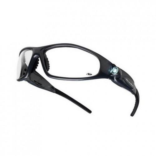 """Apsauginiai akiniai BOLLE """"GALAXY"""" skaidrūs su LED"""