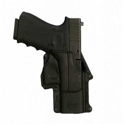 Plastikinis dėklas ant diržo įveriamas FOBUS įv. pistoletams