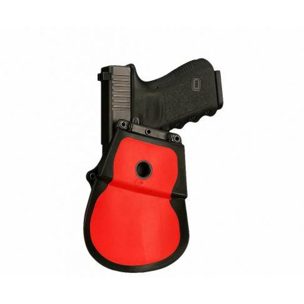 Plastikinis dėklas ant diržo uždedamas FOBUS įv. pistoletams