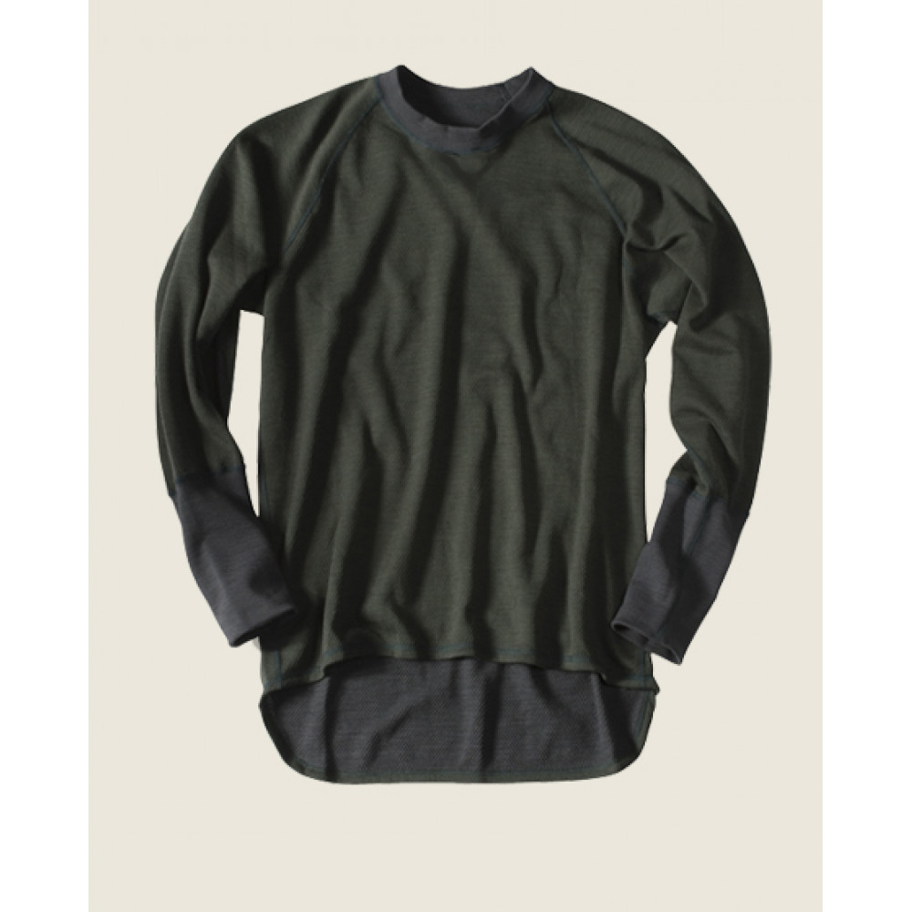 """Termoaktyvūs marškinėliai AUDUMA """"WOOL"""", žali"""