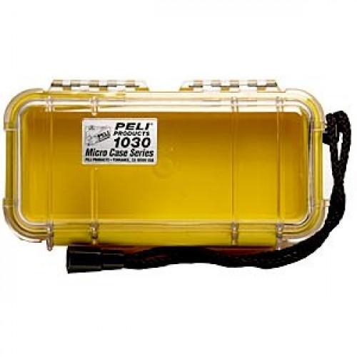 Dėžutė PELI 1060 MicroCase geltona