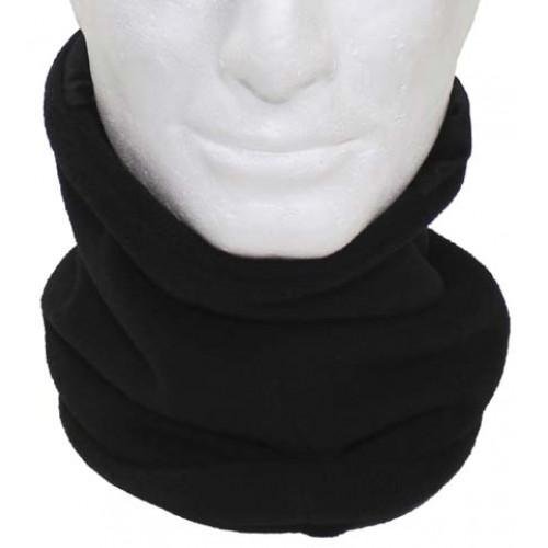 Flisinis šalikas- kaukė MF juodas
