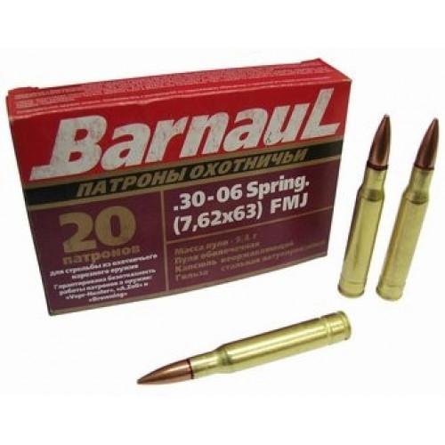Šoviniai BARNAUL 30-06sp (7,62x63) FMJ 9.4  g.