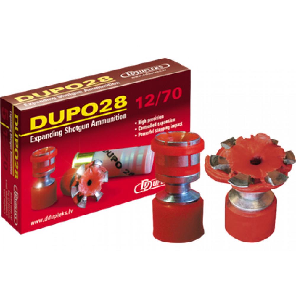 """Šovinys DDUPLEKS  """"DUPO 28"""" 12/70 kal."""