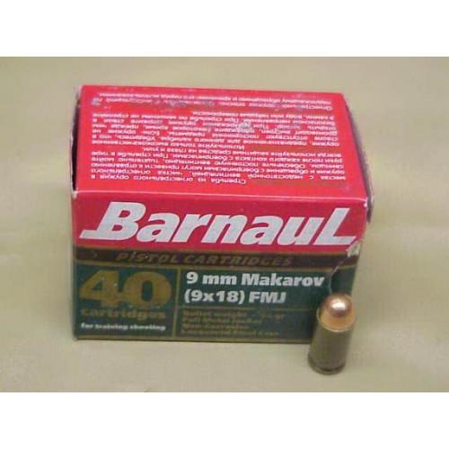 Šoviniai BARNAUL 9x18 MAKAROV FMJ 6.1 g.