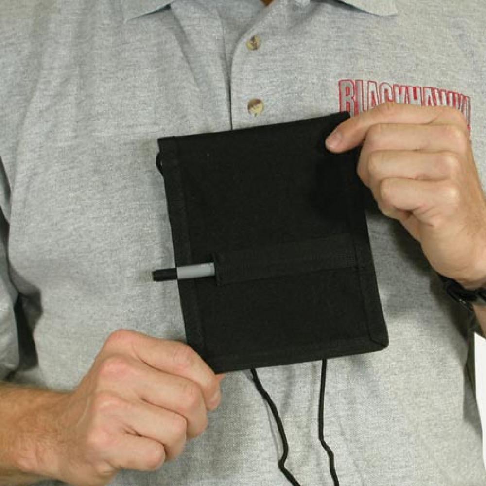 Piniginė ant kaklo BLACKHAWK ID juoda
